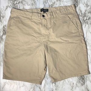 PacSun Los Angeles Tan Flat Front Shorts Size 36